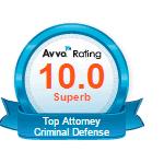AVVO 10.0 Criminal Defense