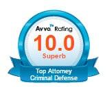 Avvo Top Criminal Attorney